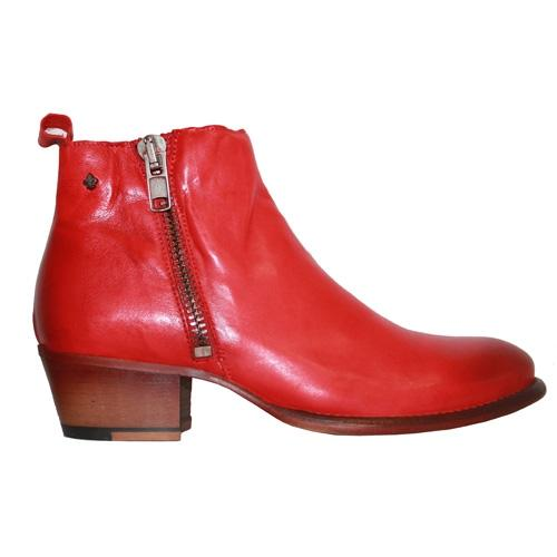 Amy Huberman Ankle Boots - Get A Clue - Red