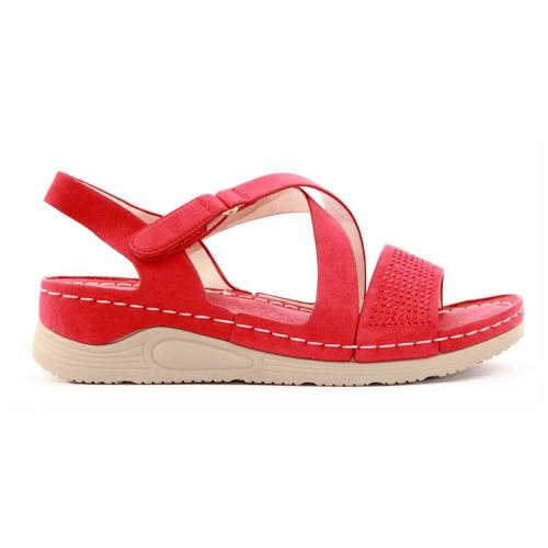 Redz Wedge Sandals  - B15 - Red