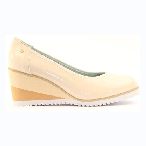 Zanni Wedge Shoe - Fulford - Nude