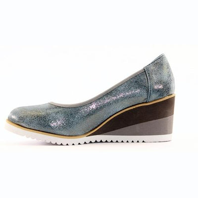 Zanni Wedge Shoe - Fulford - Blue