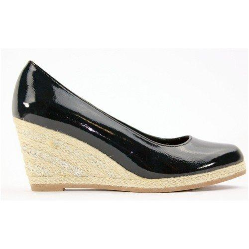 Marco Tozzi Wedge Shoes - 22440-24 - Navy Patent