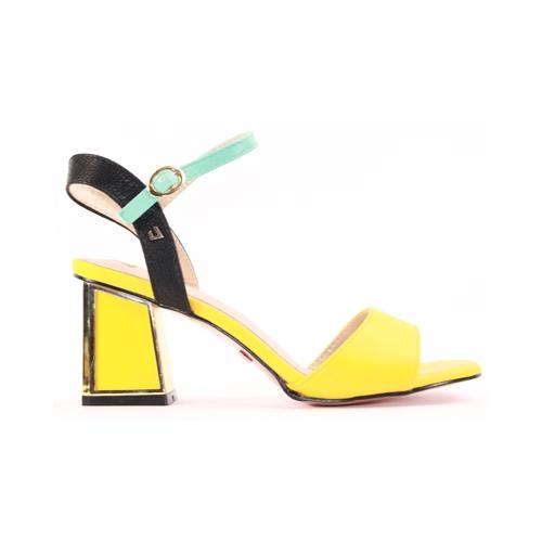 Una Healy Block Heeled Sandals  - El Paso  - Yellow