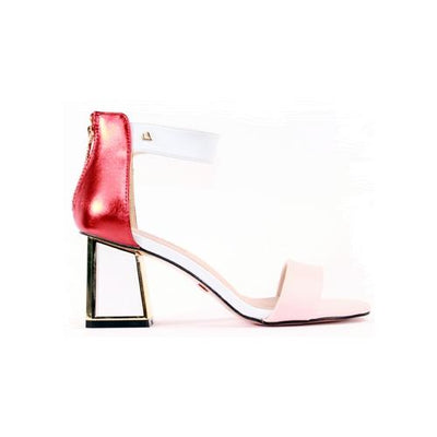 Una Healy Block Heeled Sandals - Kind Woman -  Pink