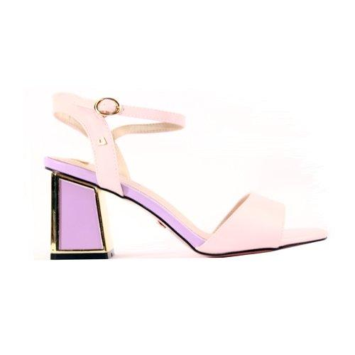 Una Healy Block Heeled Sandals  - El Paso- Pink