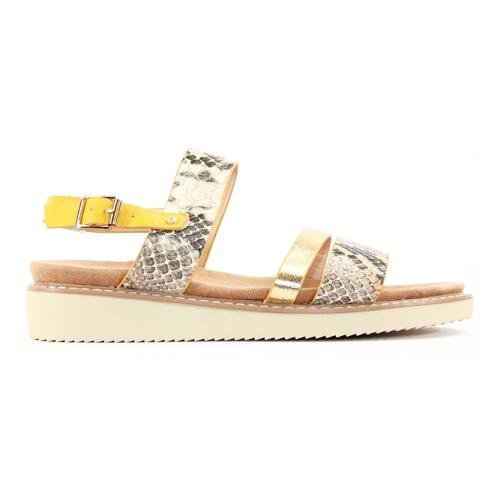 Zanni Ladies Wedge Sandal - Kabnak - Yellow