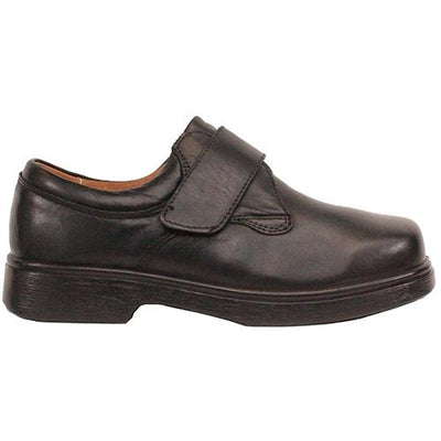 DB Wide Fit Velcro Shoe - Reece - Black