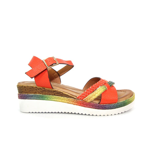 Lunar Wedge Sandals- Infinity - Orange