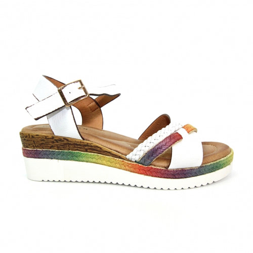 Lunar Wedge Sandals - Infinity - White