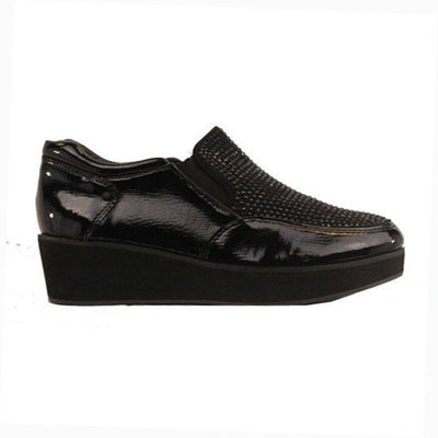 Zanni Wedge Shoes - Jiddah - Black
