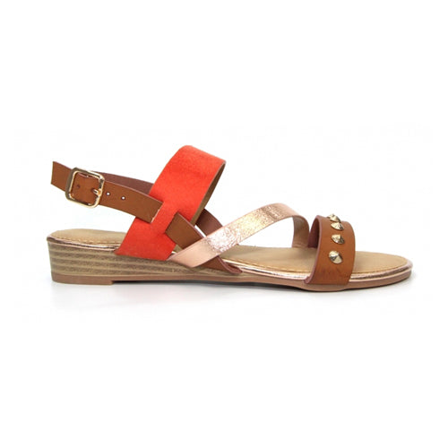 Lunar Flat Sandal - Jilly - Orange