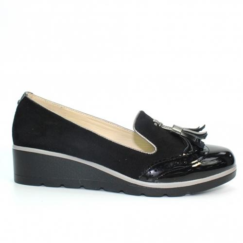 Lunar Wedge Loafers - Karina - Black