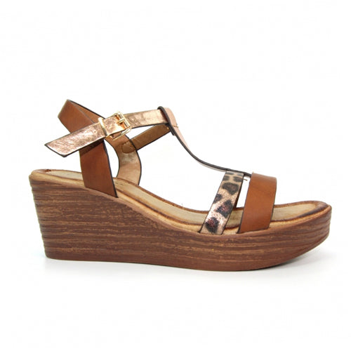 Lunar Wedge Sandal - Kempton - Brown