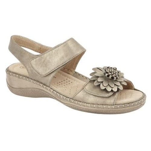 Cipriata  Low Wedge Sandals - L373FS - Pewter