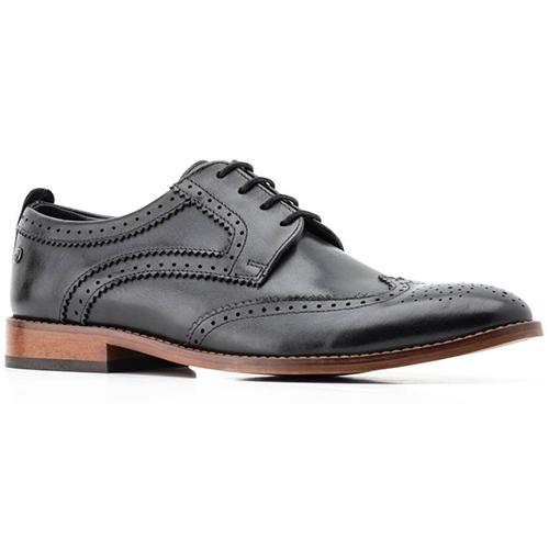 Base London Brogues  - Motif - Black