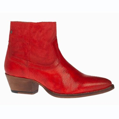 Amy Huberman Ankle Boots - Mr & Mrs Smith - Red