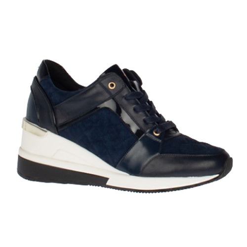 Amy Huberman Wedge Trainers - Not Now - Navy