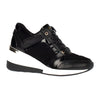 Amy Huberman Wedge Trainers - Not Now - Black