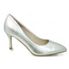 Lunar High Heel Dressy Shoes - Petal - Silver Patent