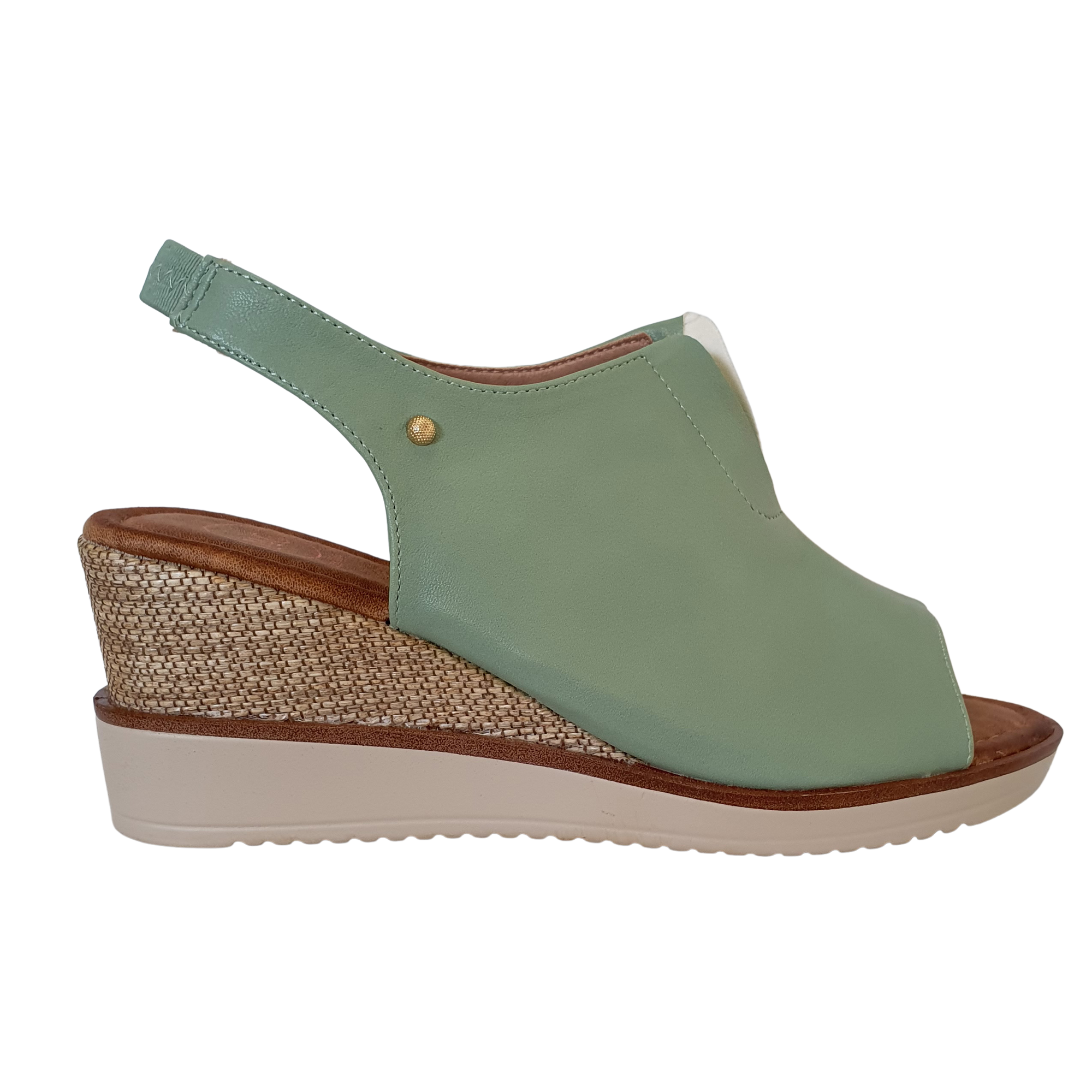 Zanni Wedge Sandals - Rahina - Green