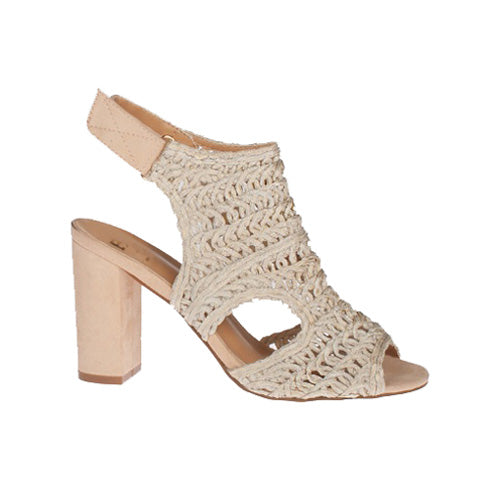Escape Block Heeled Sandals - Rhinebeck - Latte