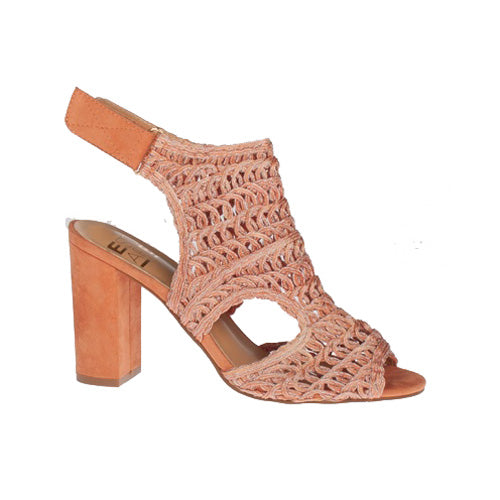 Escape Block Heeled Sandals - Rhinebeck - Peach