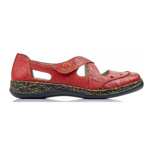 Rieker Flat Shoes - 46335-33 - Red