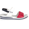 Rieker Ladies Sandal - V02S7 - Navy White