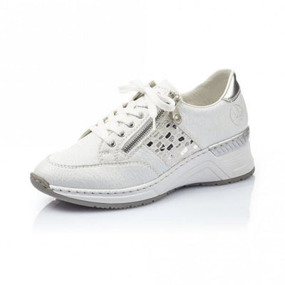 Rieker Wedge  Trainers - N4322-80 - White