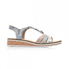 Rieker Wedge Sandal - V36G4 - Blue