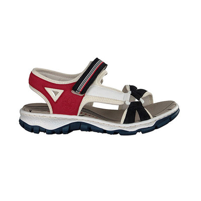 Rieker Ladies Sandal - 68877-15 - Navy/ Red