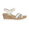 Ladies Wedge Sandal - 61955 - White