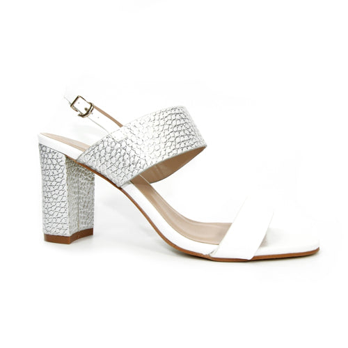 Lunar Dressy Court Shoes - Ruffle - White