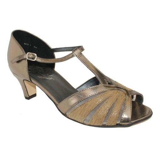 Equity - Sasha - Gold - T Bar Wide Fit Sandal