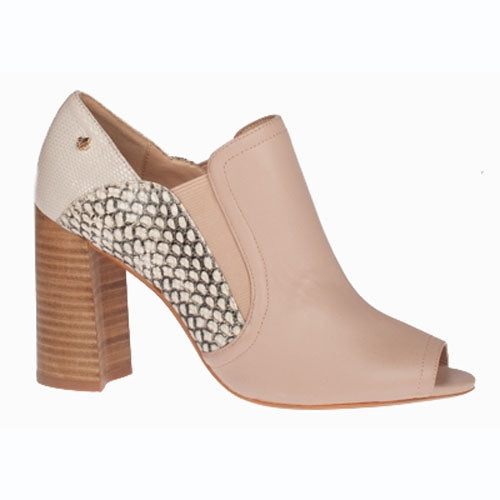 Amy Huberman Block Heeled Peep Toes- Shall We Dance - Nude