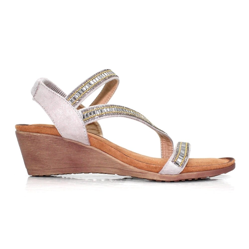 Lunar Wedge Sandals  - Sofia - Grey