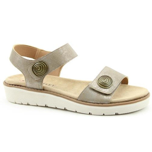 Heavenly Feet Flat Sandal  - Caroline - Taupe