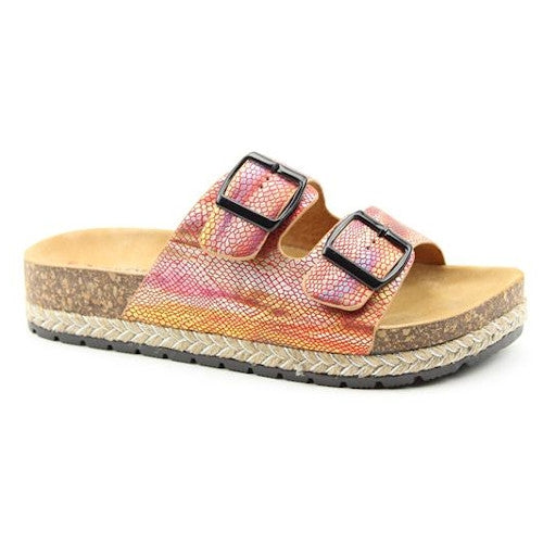 Heavenly Feet Flat Sandal  - Flutter - Red