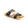 Heavenly Feet Flat Sandal  - Rosemary - Black