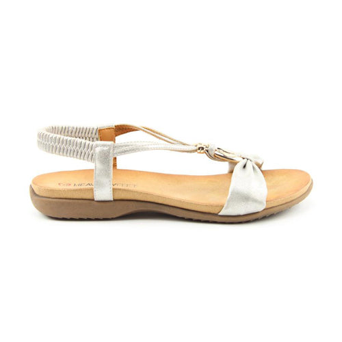 Heavenly Feet Flat Sandal  - Campari - Silver