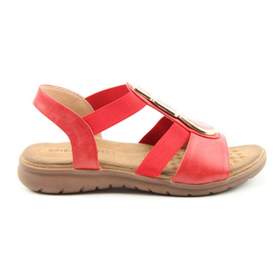 Heavenly Feet Sandal - Palm - Red