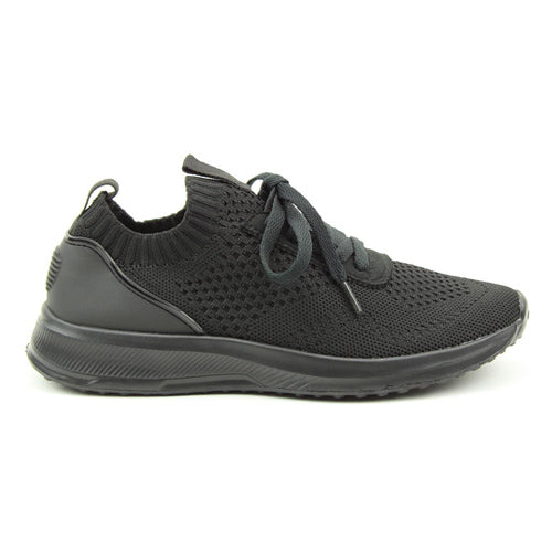 Heavenly Feet  Trainers - Poppy - Black