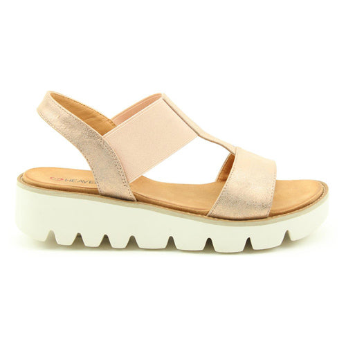 Heavenly Feet Ladies Wedge Sandal - Ritz - Rose Gold