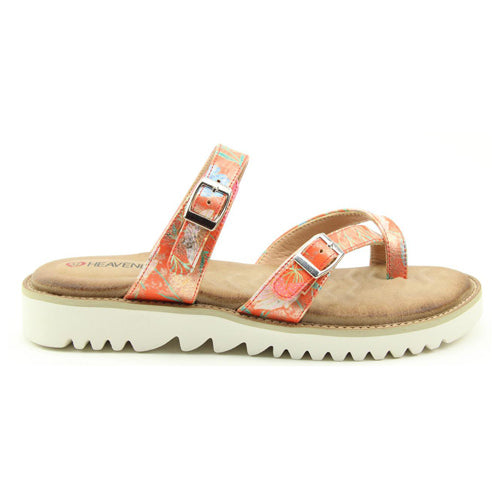 Heavenly Feet Loop Post Sandals - Sunset - Orange