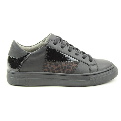 Heavenly Feet Trainers - Valentina - Black/Leopard