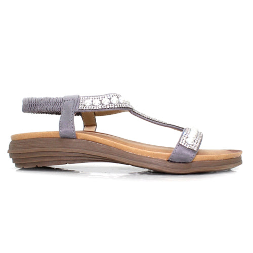 Lunar Flat Sandals  Tancy - Grey