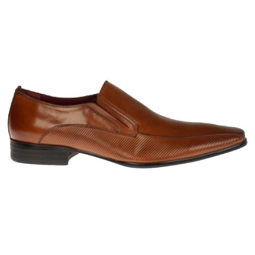 Escape - Toby Mens Dressy Slip On Shoe - Tan