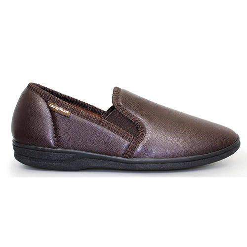 Lunar Goodyear Leather Slipper - Trent - Brown