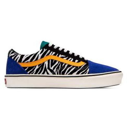 Vans Trainers - Old Skool Zebra - Blue