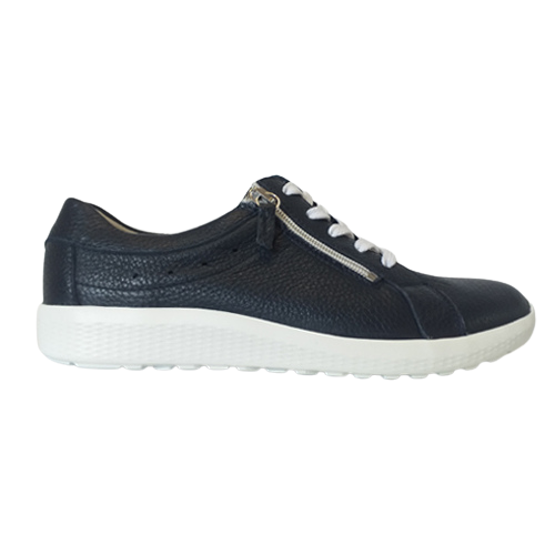 Waldlaufer Ladies Wide Fit Trainer -  687009 - Navy