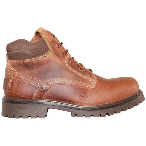 Wrangler Leather 6 Eye Boot - Keane/Yuma - Tan